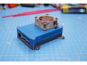 Raspberry Pi 3B case with 40mm fan to fit Kintaro heatsink