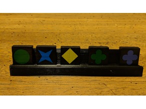 Qwirkle Tile Tray (for travel version tiles)