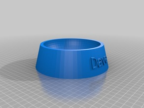 My Customized Fully Parametric Dog / Cat Food Bowl dave