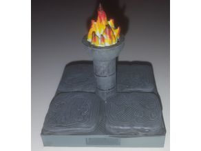 Openlock Brazier with flame