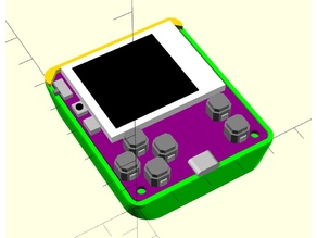 uGame micropython console Nokia Battery BL-5B case