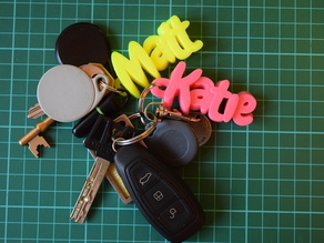 iamburny's v2 Customizable Text - Name Keyring / Keyfob