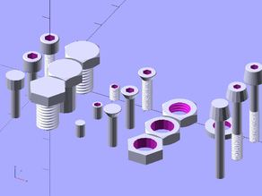 Nuts and Bolts v1.95 OpenSCAD library