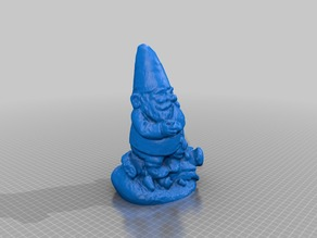 Smoking Gnome with modded hat