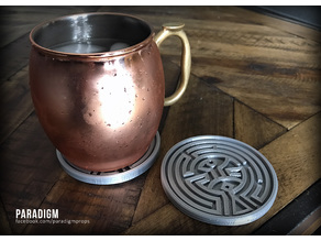 West World Maze Drink Coaster