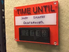 Countdown Timer Plaque