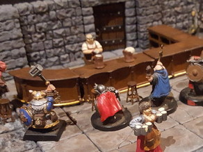 Simple Bar Tavern Set 28mm for Openforge