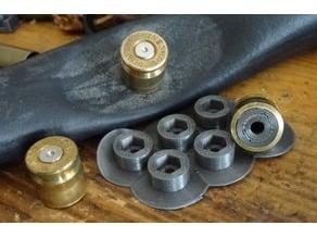 Decorative .308/.45ACP/9mm shell M3/M4 screw Rivet