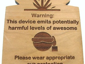 Laser Cutter Warning Label