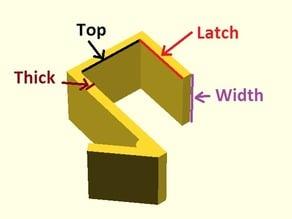 Cubicle wall coat hanger (customizer)