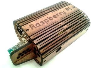 Raspberry Pi Case, Laser Cut, Oval