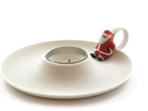 Candle holder with Santa