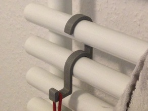 Coat / Towel Hook (mounted on heater) V2