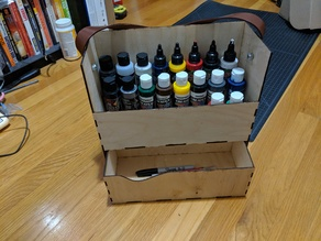 Laser Cut Paint Caddy