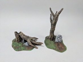 28mm Gravestone and Tree