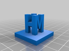 My Customized 3D Ambigram mh