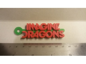 Imagine Dragons Logo Keychain