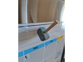 Fridge Magnet Mjolnir Thor Hammer - 8x3 magnets