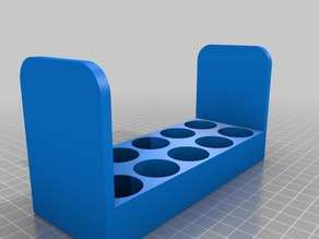 Tray for essential oil bottles up to 24mm diameter