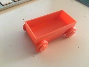 Basic train vagon XYZ calibration cube IKEA