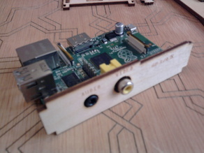 Raspberry PI birch wood enclosure with Lego holes