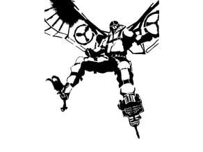 The Vulture stencil