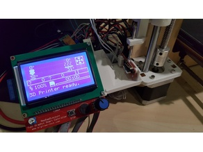 Full Graphic Smart Controller holder for lasercut frame ( with optional endstop)