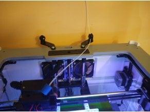 Flashforge dreamer/Dremel overhead filament mount guide V2