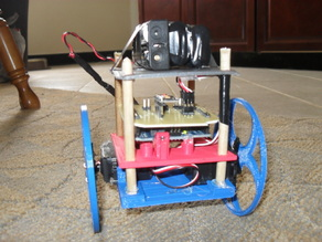Balancing robot with etched PCB shield