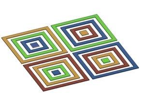 Multi Nozzle / Tool Changer Concentric Calibration Squares