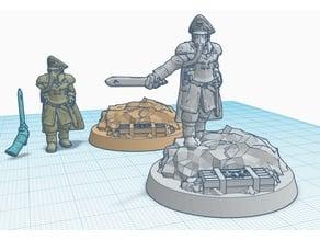 General DKOK on pile of rubble
