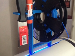 Spool Holder for Robo3D (with scraper and glue stick holders)
