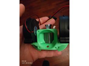 Interchangeable Dual Blower E3Dv6 40mm fan led holder