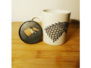 Game of thrones wolf coffee drawer