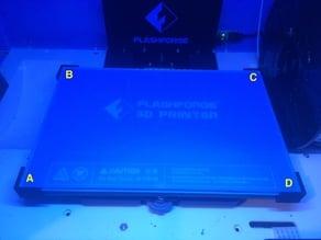 Glass Plate Corner Brackets for Flashforge Inventor 3D Printer