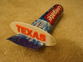 Texas toothpaste squeezer & keychain