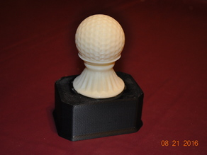 Light weight base for golf trophy by Bob East