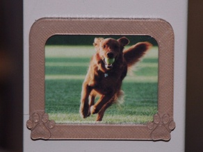 Dog Paw Picture Frame Refrigerator Magnet