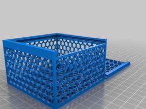 Hexagonal Hole Box 60x60xh50