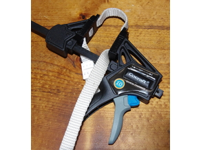 web clamp adapter for quick-change bar clamp and nylon strap