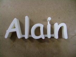 3D Name - Nom 3D: Alain