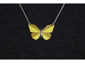 Multi-Color Butterfly Necklace