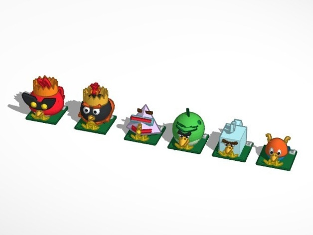 Chess tinkercad anger birds space angry birds space by xpekted thingiview voltagebd Images