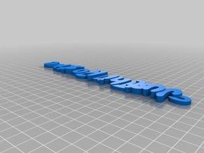 My Customized iamburny's  Text - Name Keyring / Keyfob