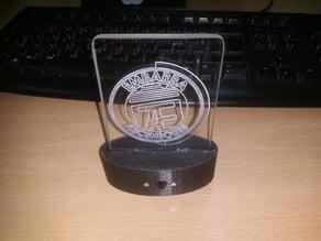 soporte Logo acrilicos tallados