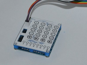8 LED 4x4 Push Buttons COVER