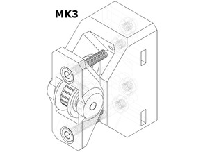 Y-belt holder and tensioner for MK3 and Bear MK2, MK2.5, and MK3