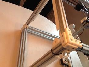 Split LED holder for Ultimaker 2 Aluminum Extrusion 3D printer