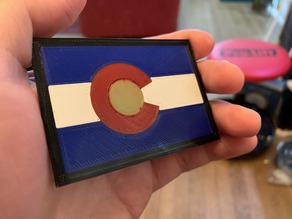 Colorado Flag Keychain - Single Extruder Multi Color Print