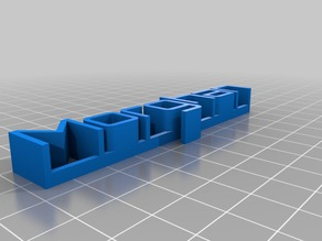 Morghan My Customized 3D name plate